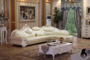 B008 Antique Leather Sofa