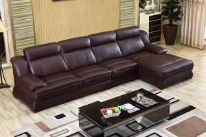GF089 Contemporary Leather Sectional Sofa