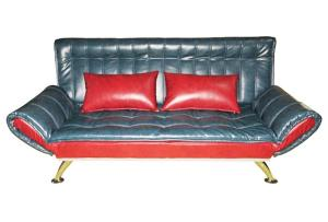 Folding Arm Leather Sofa Bed