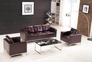 Executive Office Leather Sofa
