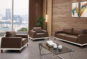 Commercial Leather Couch Set