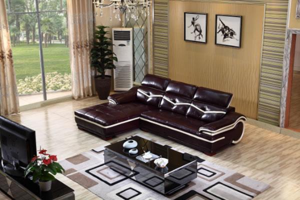 Gf096b Contemporary Genuine Leather Sofas Yuanrich
