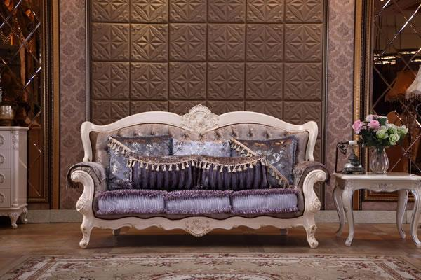 C606 3-Seater Fabric Sofa Set