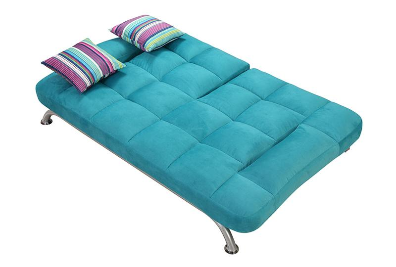 Metal Frame Fabric Sofa Bed
