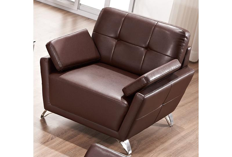 Commercial Brown Leather Sofa Set