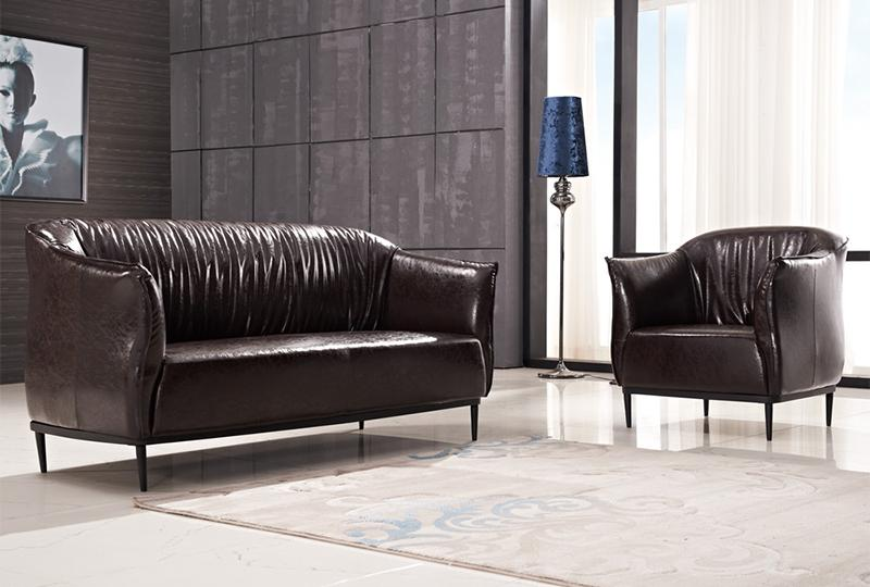 Brown Leather Office Couch