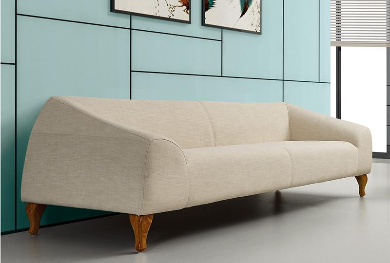 Wood Frame Modern Office Couch