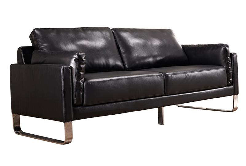 Black Leather Office Couch